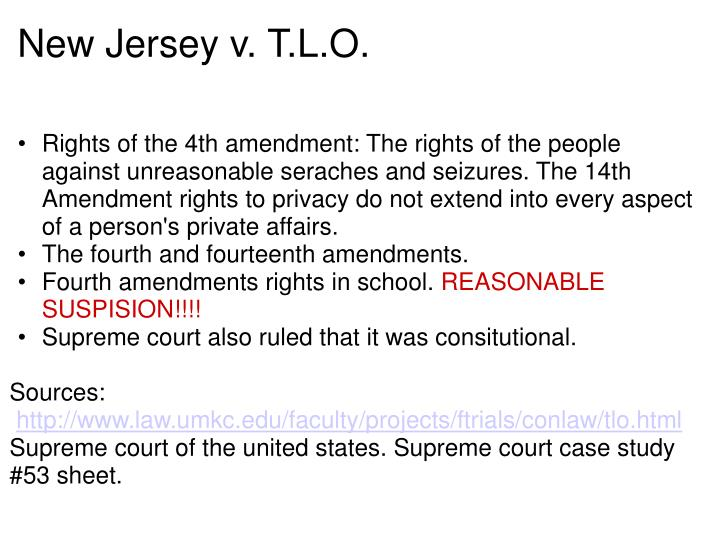 new jersey v t l o New jersey v tlo - supreme court case worksheet worksheet containing  multiple activities focusing on the case of new jersey v tlo, an important.