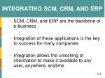 integrating scm crm and erp