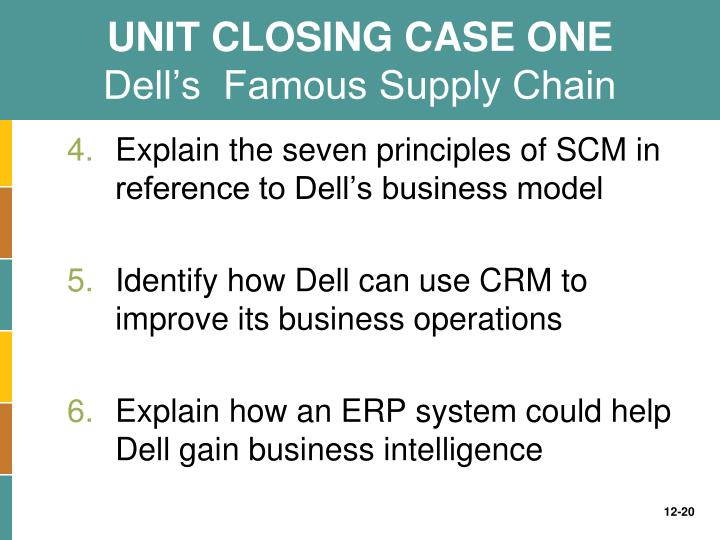 dell's value chain case Case study: supply chain management at dell, dell's direct model dell inc pioneered the direct model of selling pcs directly to the consumers how it enabled dell to manage its supply chain efficiently is discussed in this case study.
