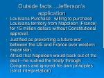 outside facts jefferson s application