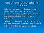 outside facts philosophies of jefferson