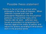 possible thesis statement1
