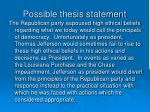 possible thesis statement2
