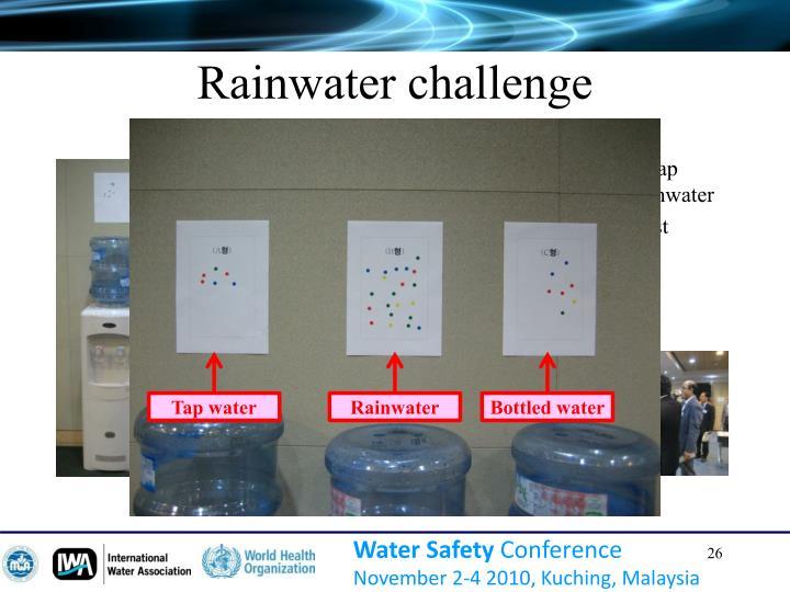 Rainwater challenge