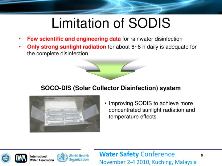 Limitation of SODIS