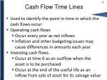 cash flow time lines