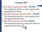 interpret irr