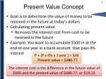 present value concept