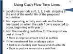 using cash flow time lines