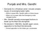 punjab and mrs gandhi
