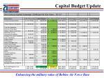 capital budget update