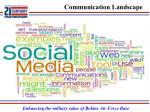 communication landscape