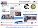 communications update1