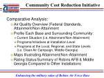 community cost reduction initiative