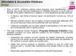 affordable accessible childcare bridge