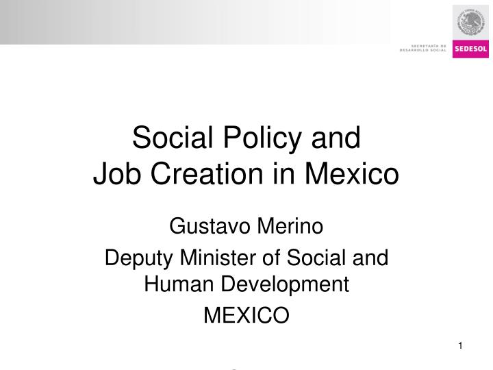 social policy and job creation in mexico n.