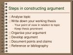 steps in constructing argument1