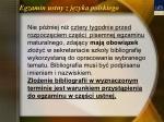 egzamin ustny z j zyka polskiego