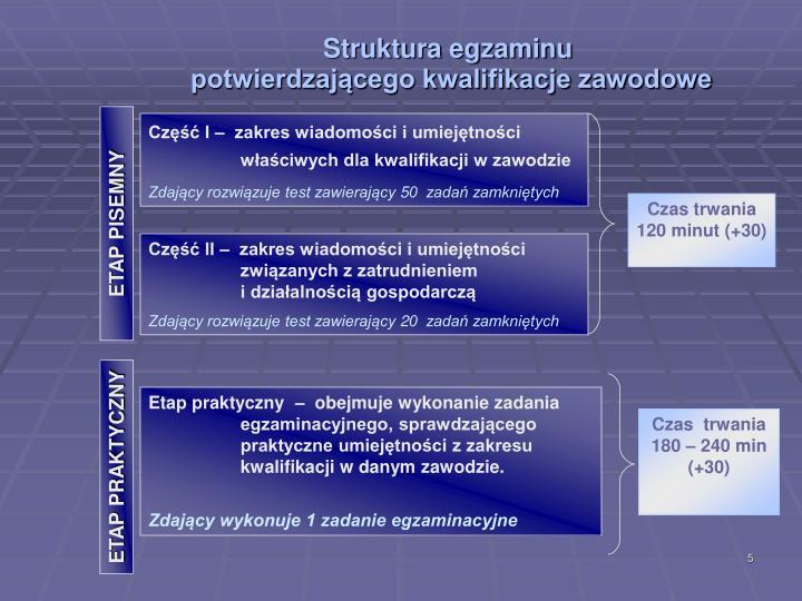 Struktura egzaminu