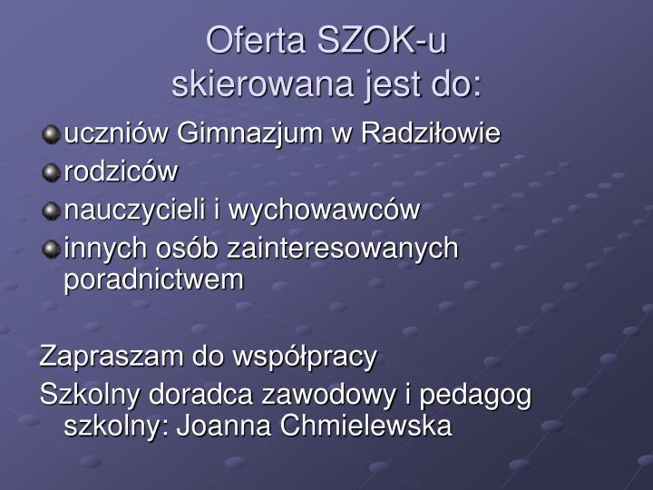 Oferta SZOK-u