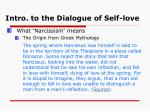 intro to the dialogue of self love