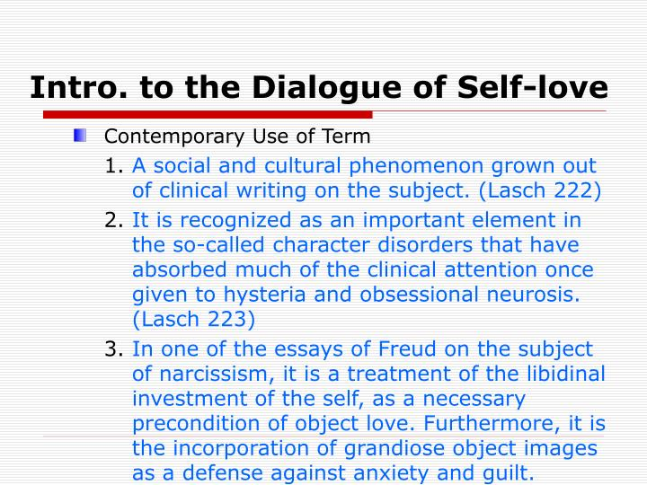 Intro. to the Dialogue of Self-love
