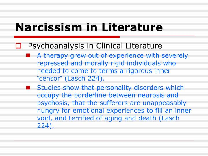 Narcissism in Literature