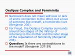 oedipus complex and femininity