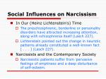 social influences on narcissism1
