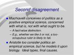 second disagreement