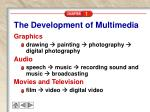 the development of multimedia