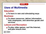 uses of multimedia