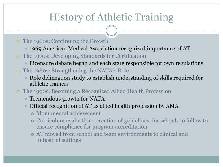 History of Athletic Training