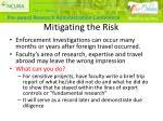 mitigating the risk