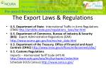 the export laws regulations