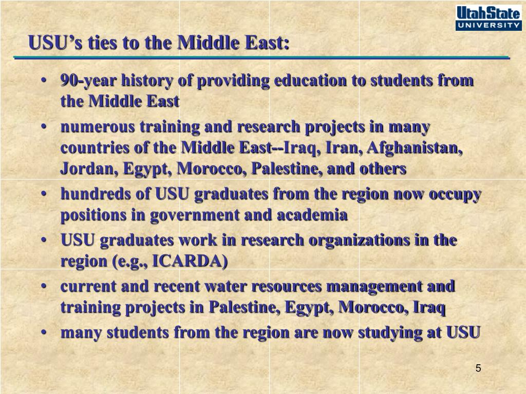 USU's ties to the Middle East: