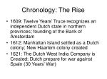 chronology the rise