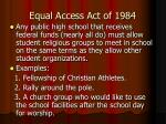 equal access act of 1984