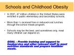 schools and childhood obesity