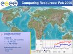 computing resources feb 2005