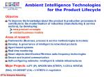 ambient intelligence technologies for the product lifecycle