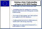 gaining a better understanding of impact of eu rtd funding