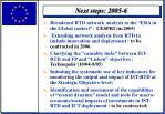 next steps 2005 6