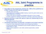 aal joint programme in practice
