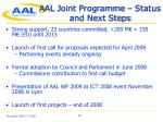 aal joint programme status and next steps