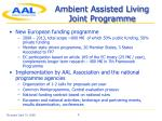 ambient assisted living joint programme