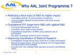 why aal joint programme