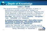 depth of knowledge1