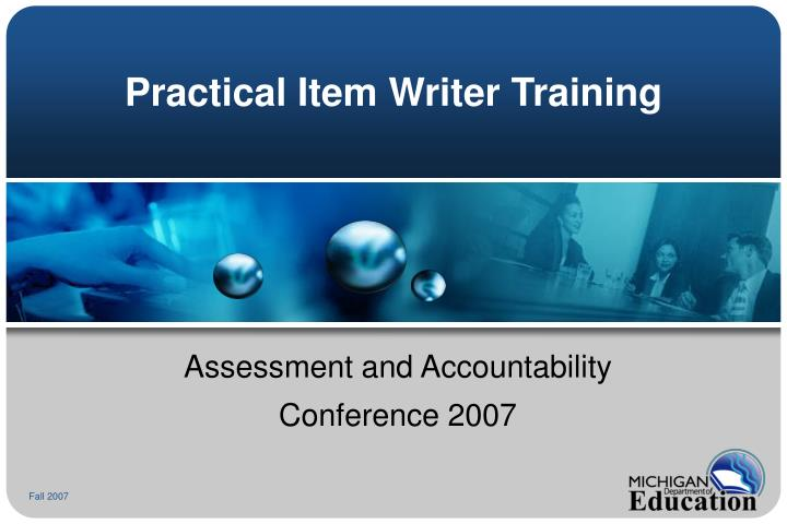 practical item writer training n.