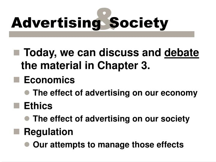 advertisements affect on society The problem with consumerism changes we can make to society one effective way to do this is to simply ignore advertising – don't let it affect you or.